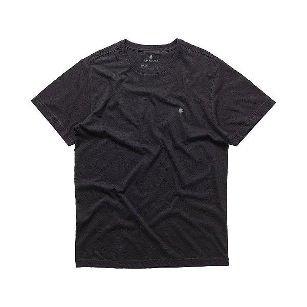 Camiseta básica masculina de gola redonda - Preto