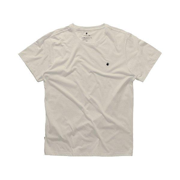 Camiseta básica masculina de gola redonda - Bege