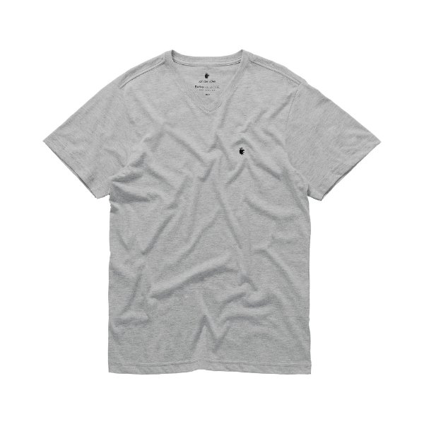 Camiseta básica masculina de gola V - Mescla