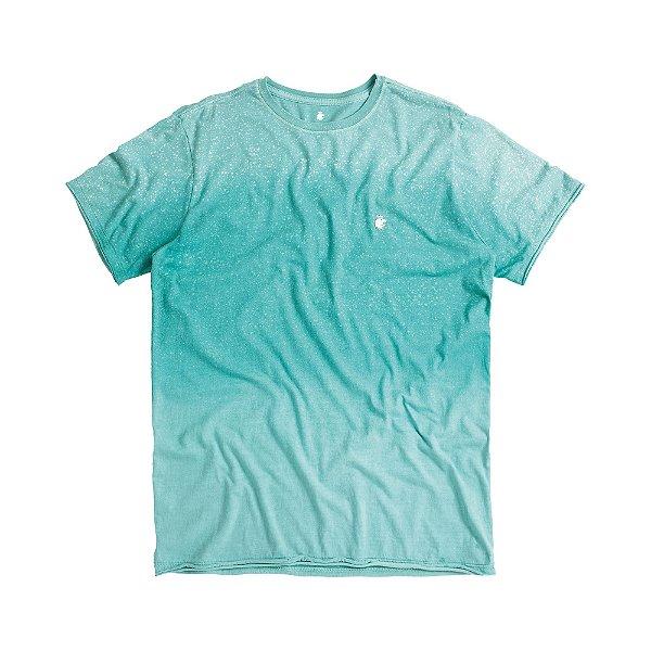 Camiseta masculina degradê modelagem padrão - Turquesa