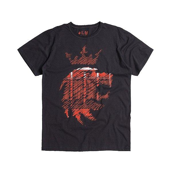 Camiseta masculina estampa leão Vøn der Völke - Preto
