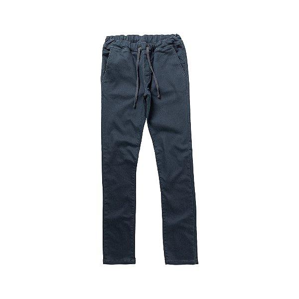 Calça ecológica slim masculina com elástico - Azul