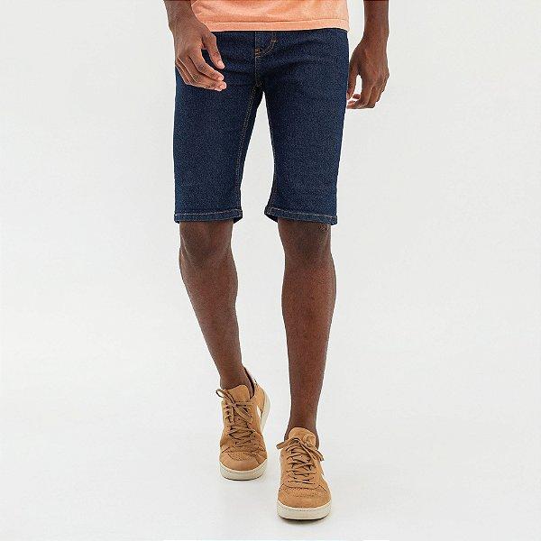 Bermuda jeans masculina modelagem slim acabamento padrão - Denim