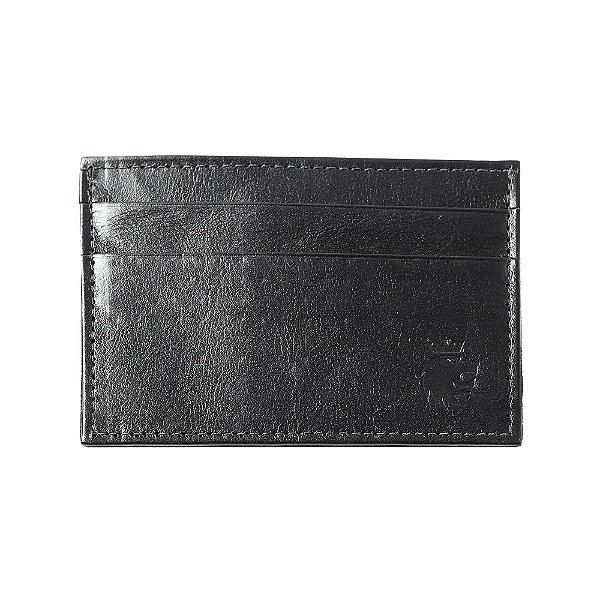 Porta cartões e cnh couro detalhe pesponto - Preto