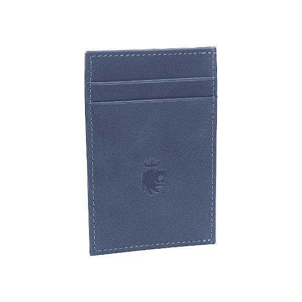 Porta cartões com 4 compartimentos - Azul