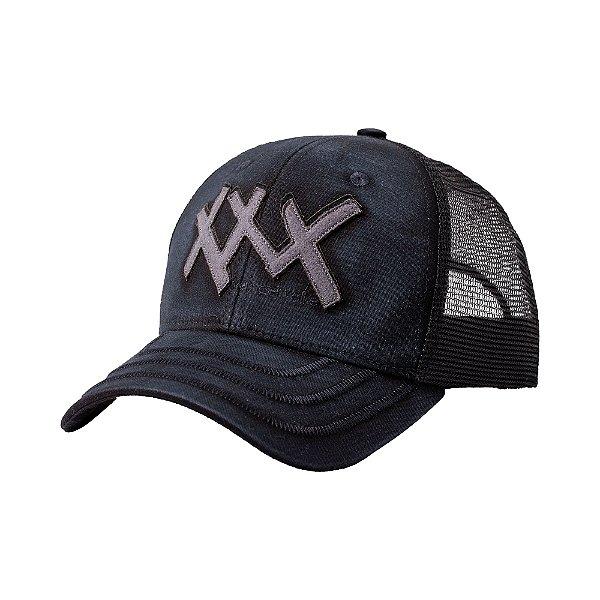 Boné trucker aba curva aplicação laser XXX - Cinza