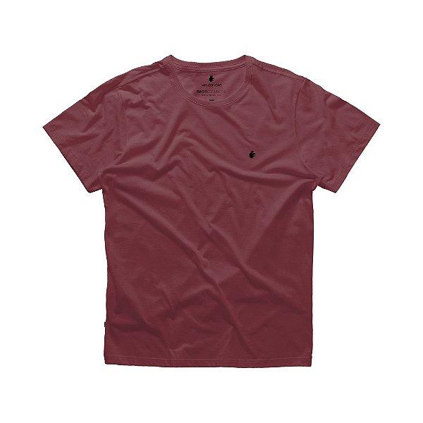 Camiseta básica masculina de gola redonda - Roxo