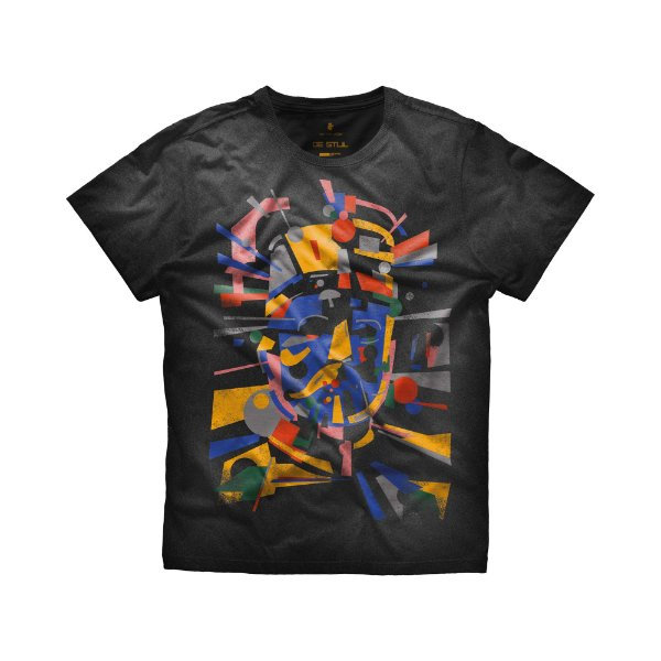 Camiseta masculina manga curta estampa Mr. Volke De Stjil - Preto