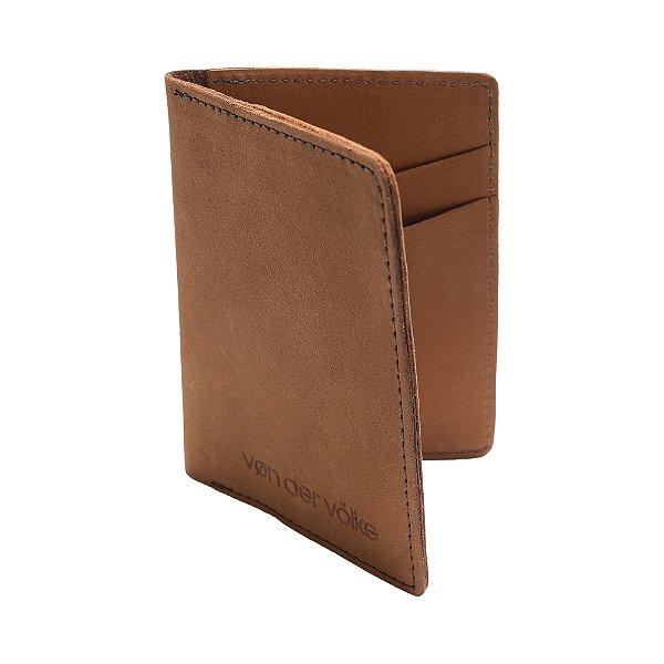Porta cartões e cnh de couro legítimo - Marrom