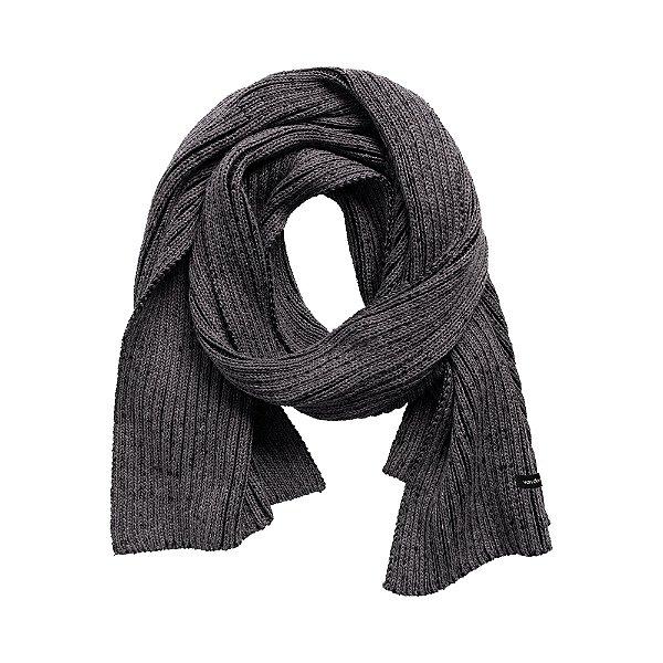 Cachecol em tricot com textura canelada - Cinza