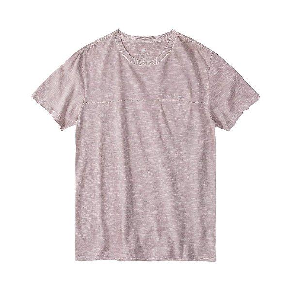 Camiseta masculina em flamê com recortes diferenciados - Rosa