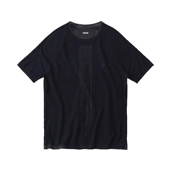 Camiseta masculina dupla face malha crepe manga raglan - Rosa