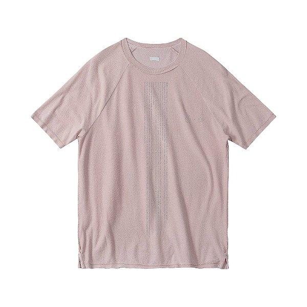 Camiseta masculina dupla face malha crepe manga raglan - Preto