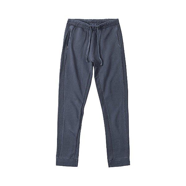Calça moletom masculina estonada com bolso frontal - Azul