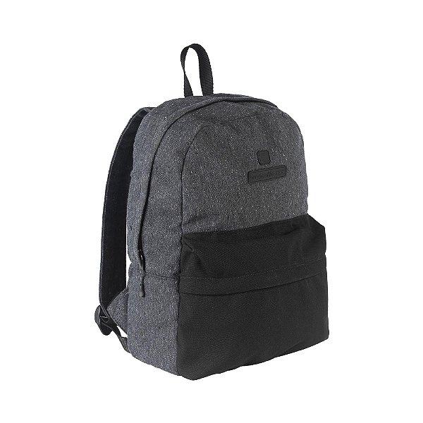 Mochila em lona com compartimento para notebook - Preto