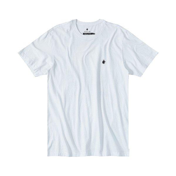 Camiseta masculina estampa folha de cannabis - Branco