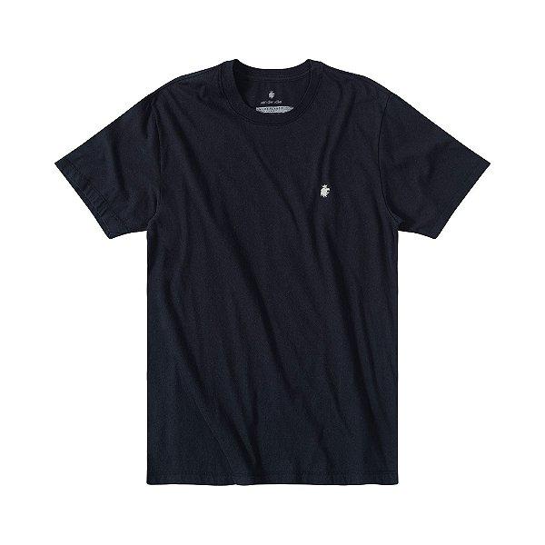 Camiseta masculina estampa folha de cannabis - Preto