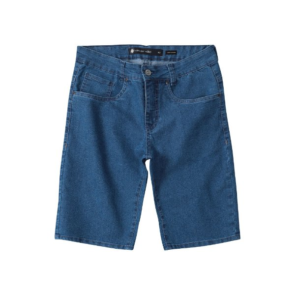 Bermuda Jeans Azul Médio Masculina Basis Range - Medium Denim