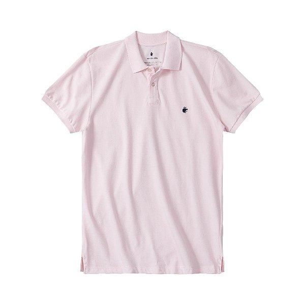 Camisa Polo Masculina Básica Von der Volke em Piquet - Rosa