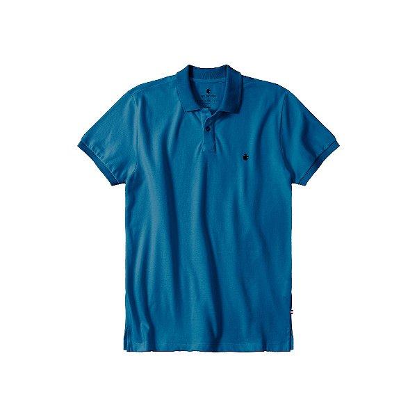 Camisa Polo Masculina Básica Von der Volke em Piquet - Azul