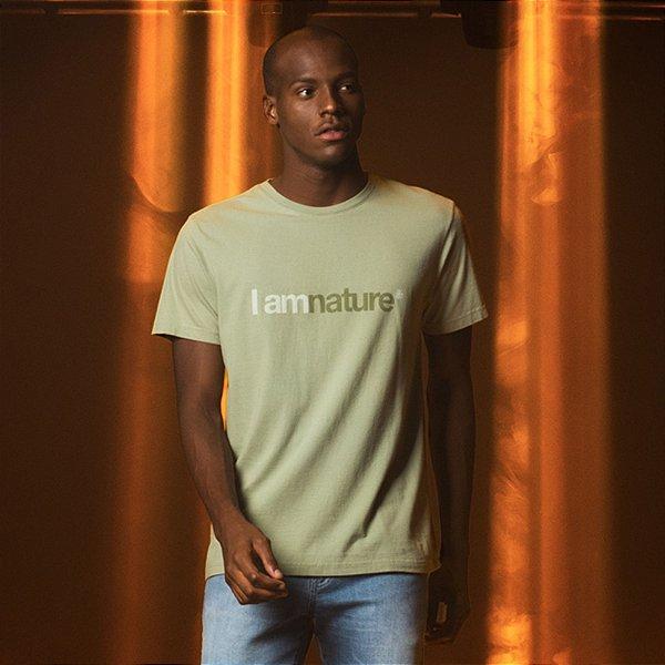 Camiseta Masculina com Malha Ecológica I Am Nature - Verde