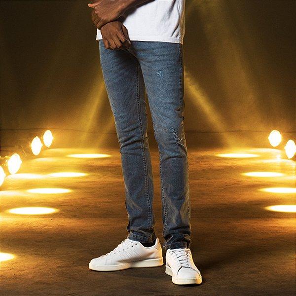 Calça Jeans Médio Skinny Masculina Brent - Medium Denim
