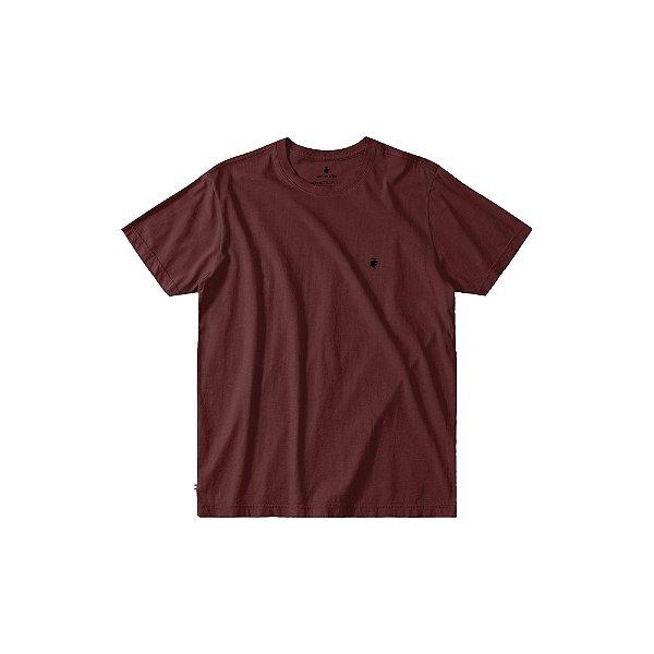 Camiseta básica masculina de gola redonda - Bordo