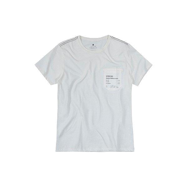 Camiseta Masculina Manga Curta Com Bolso Ams Goods - Bege