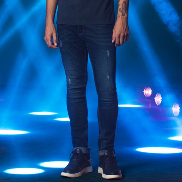 Calça Jeans Escura Skinny Masculina Kobe - Dark Denim