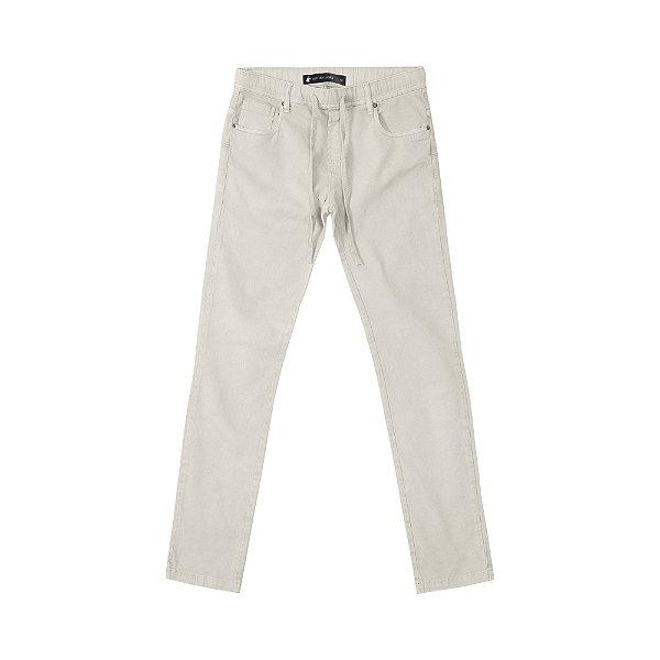 Calça de Sarja Skinny com Elastano Masculina  Feest - Caqui