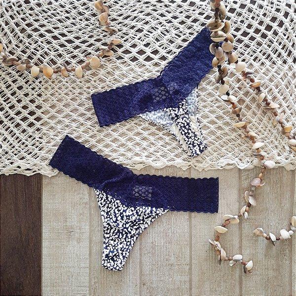 Calcinha Malagueta de Fluity Blue white / Marinho