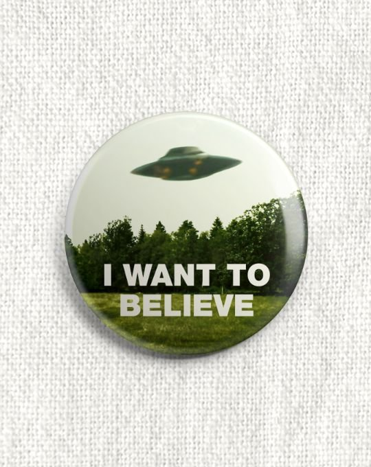 Boton Arquivo X - I Want to Believe