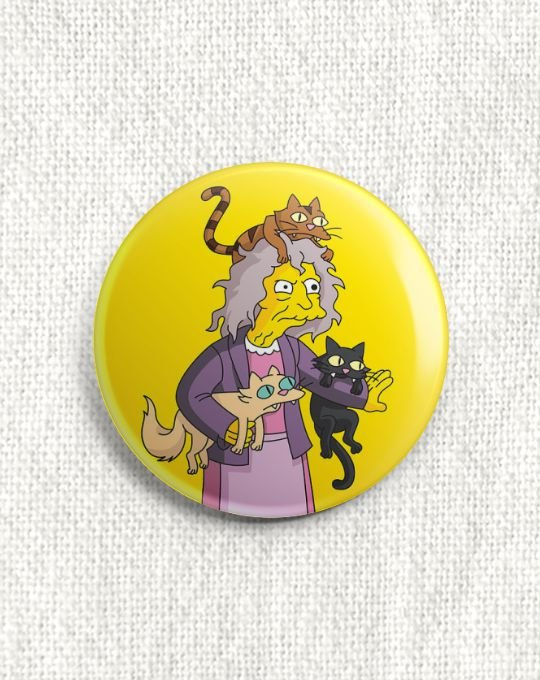 Boton Crazy Cat Lady