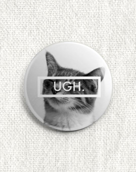 Boton Gato - Ugh