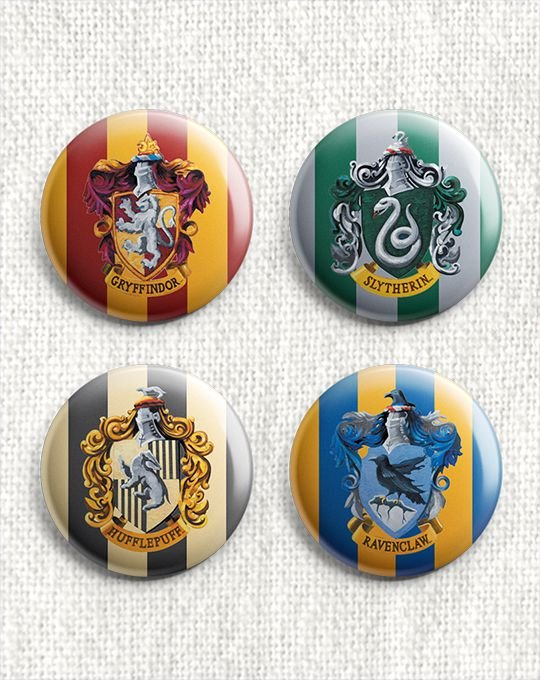 Kit 4 Botons - Harry Potter