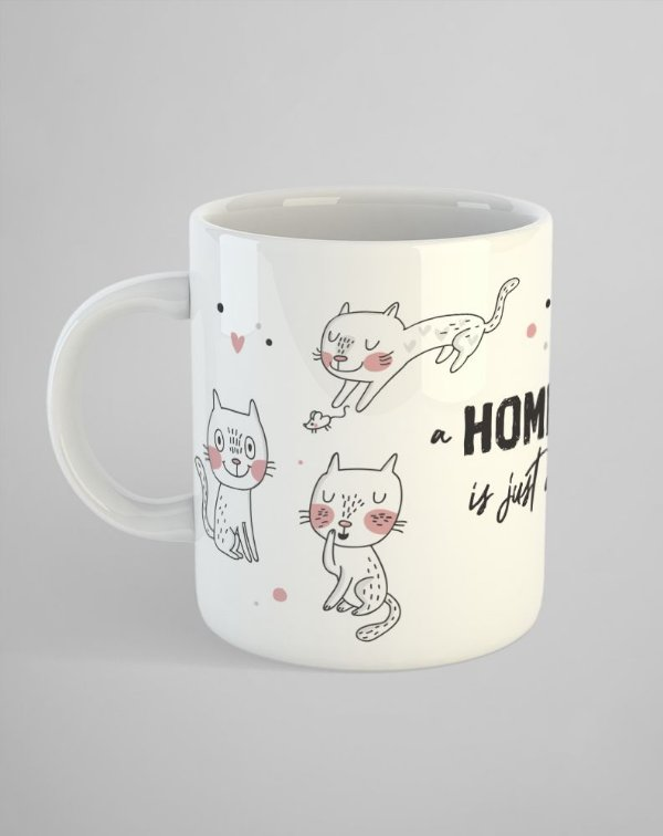 Caneca Gatinhos (A Home Without a Cat is just a House)
