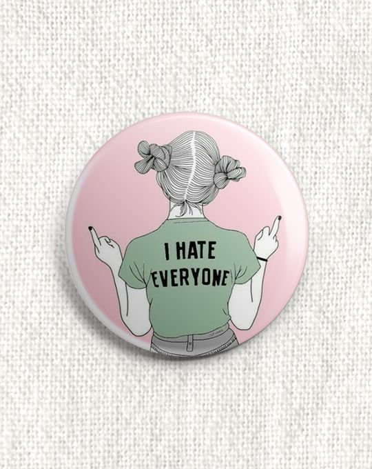 Boton I Hate Everyone