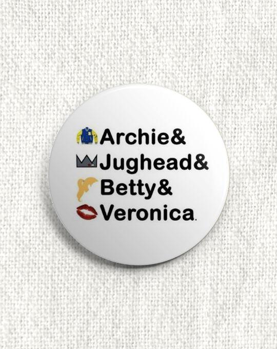 Boton Riverdale - Archie & Jughead & Betty & Veronica