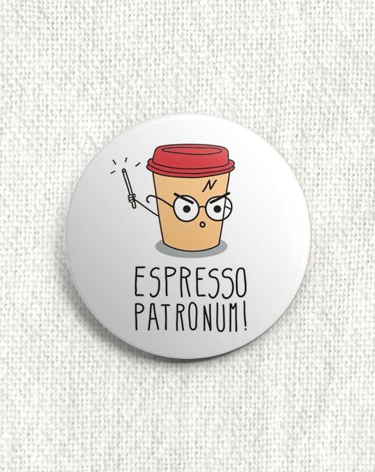 Boton Harry Potter - Espresso Patronum