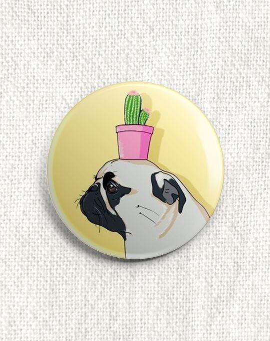 Boton Pug Cactus
