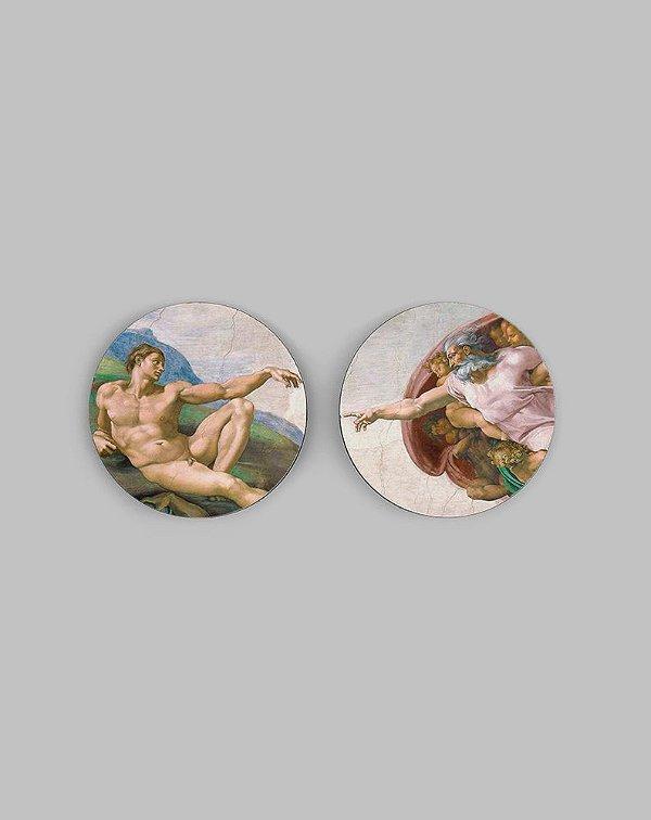 Porta Copos A Criação de Adão - Michelangelo