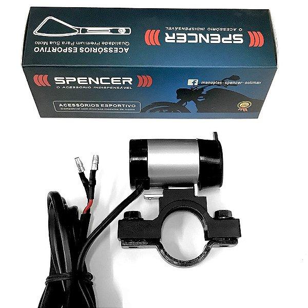 Carregador USB Moto Celular Smartphone GPS 2.1A Spencer