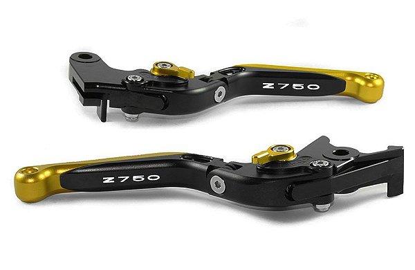 Manete Esportivo Kawasaki Z750 Preto Dourado A Laser Z750