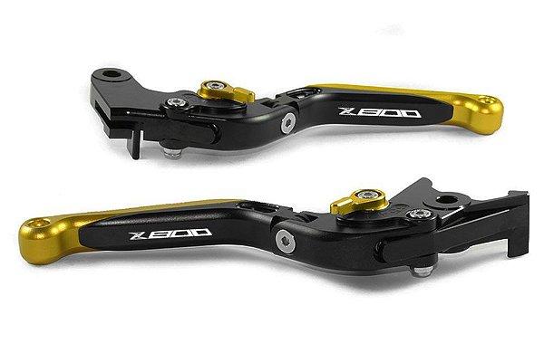 Manete Esportivo Kawasaki Z800 Preto Dourado A Laser Z800