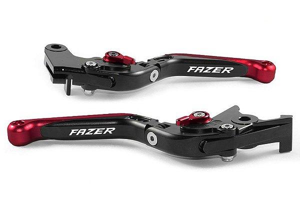 Manete Esportivo Preto Vermelho Yamaha Fazer 250 Laser Fazer