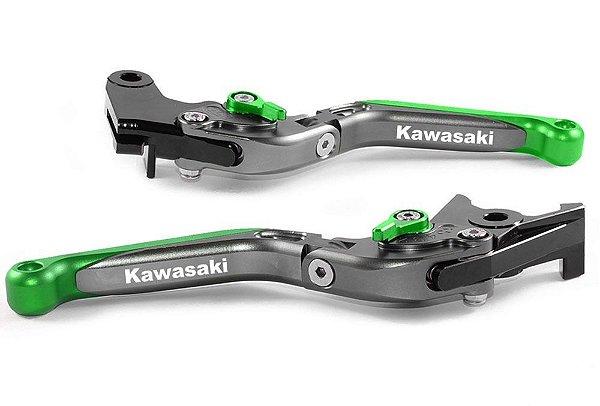 Manete Esportivo Titanium Verde Versys 650  Laser Kawasaki