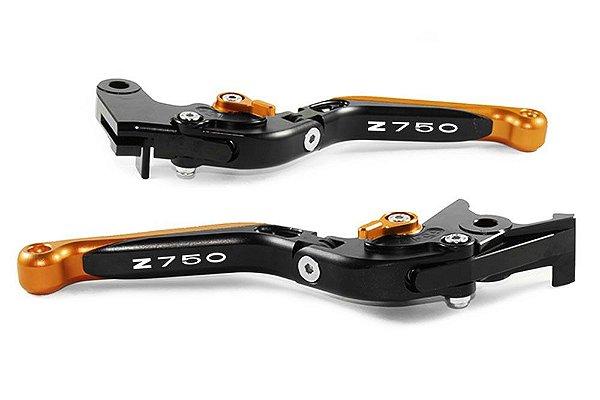 Manete Esportivo Preto Laranja Kawasaki Z750 Laser Z750