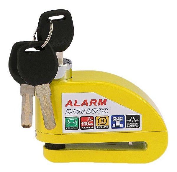 Trava De Disco Para Moto C/ Alarme Sensor Impermeável