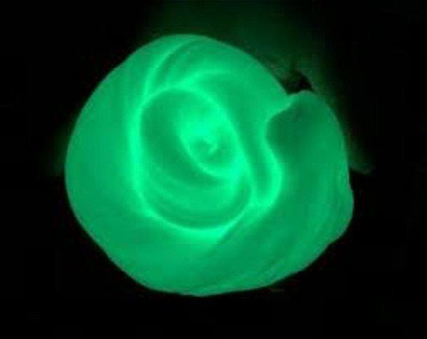 Pó Glow - Cor Amarelo Esverdeado - Brilha No Escuro Sem Luz Negra