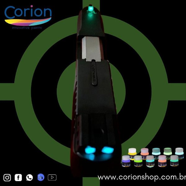 Ponto Glow 25ml Tinta Corion Para Alça e Maça de mira de armas - Brilha Escuro sem Luz Negra